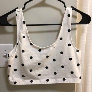 H&M Divided polka dot crop tank top